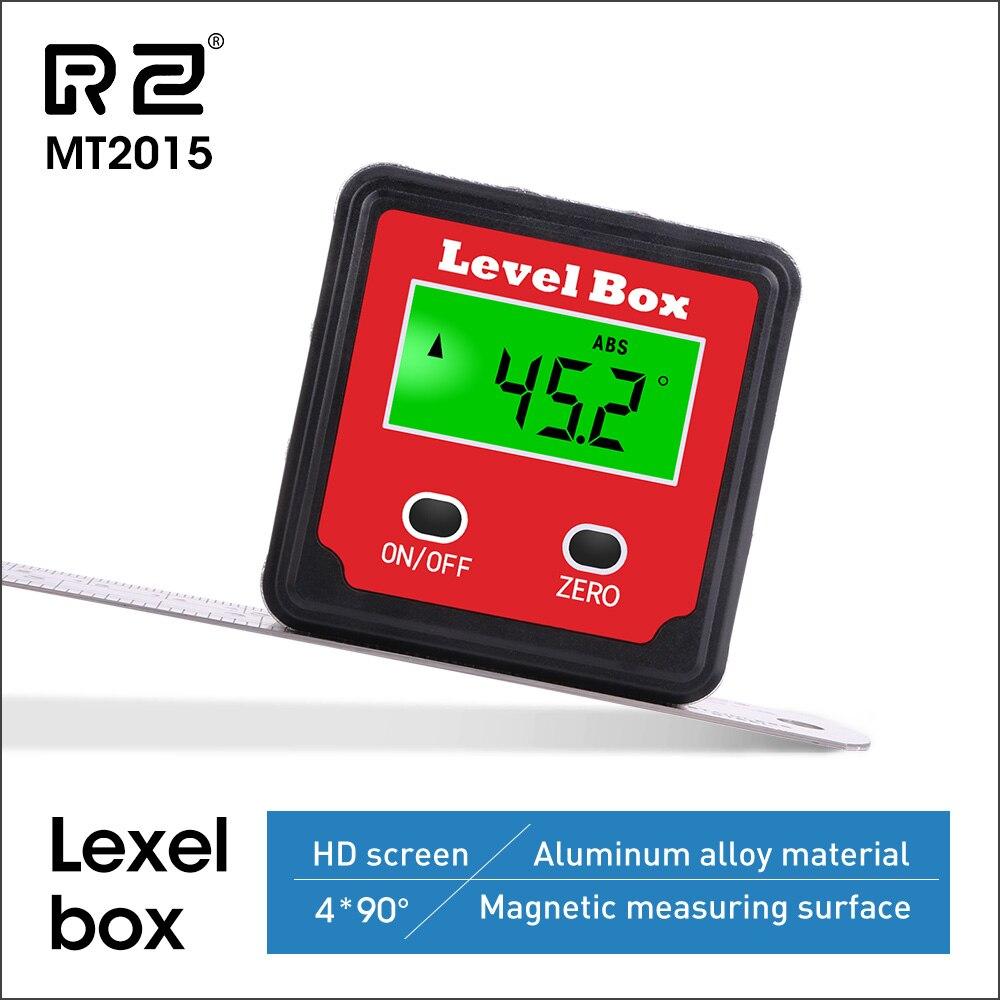 Inclinómetro electrónico Digital retractor RZ, buscador de ángulo de caja cónica con retroiluminación, medidor de Ángulo de medición MT2015