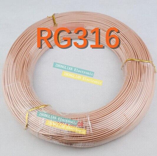 10 متر/10 قطعة/الوحدة RG316 RG-316 الأسلاك/محوري كابل هوائي 50ohm 10 متر