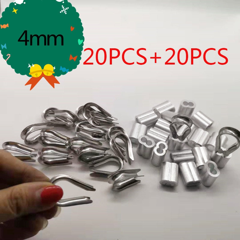 Обжимные рукава для проводов диаметром 4 мм 20 шт. алюминиевые овальные двойные