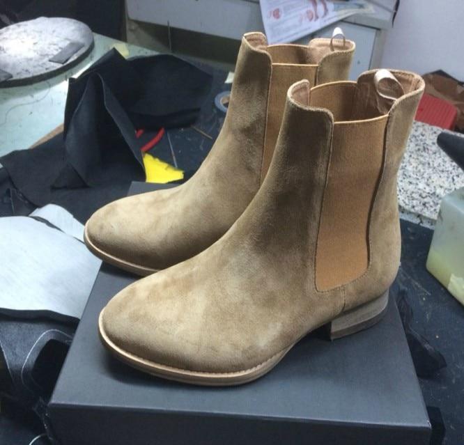 Nizza Spl Stil Neue Chelsea Stiefel Sharp Toe Kanye West Stiefel Aus Echtem Leder 11 Fishion Leben Stil Euro Und Amerika mid Ferse GD
