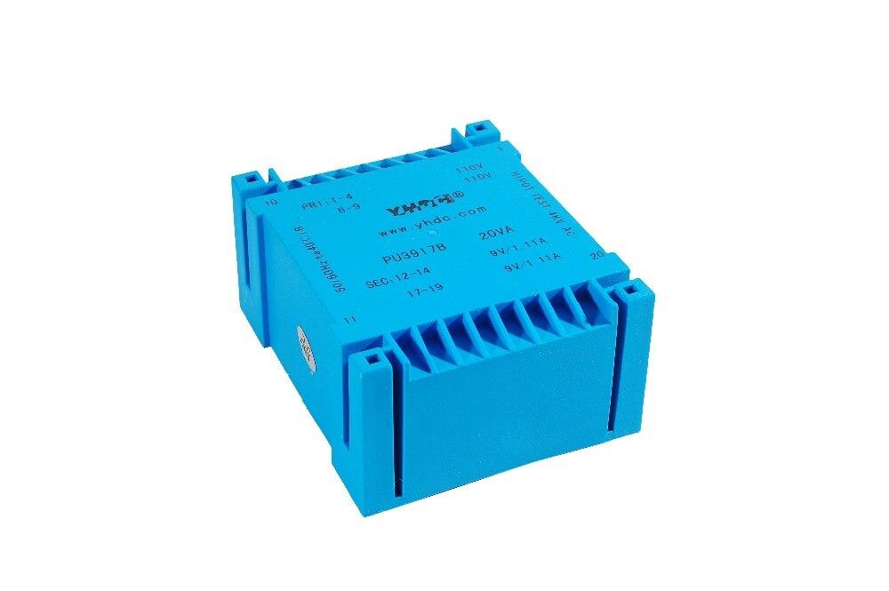 PU3917B производитель двойной вход и выход типа UI 20VA 2*115V 2*18V PCB Инкапсулированный трансформатор
