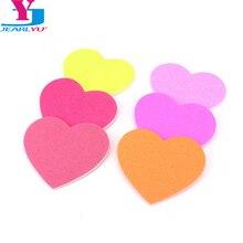 200 piezas de uñas lijado Mini pequeño corazón colorido Buffer manicura polaco uña arte esponja herramientas de arte de uñas de regalo portátil