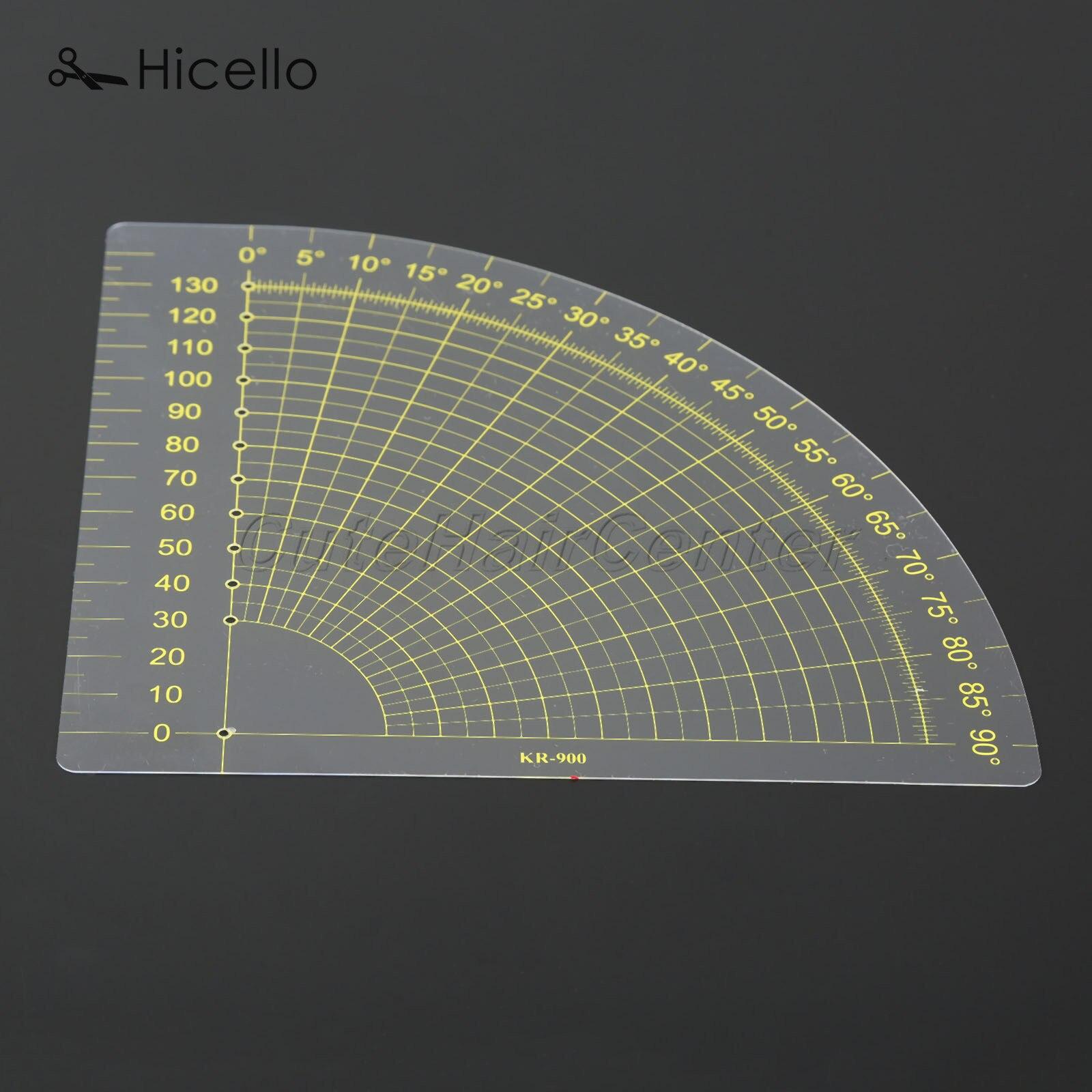 Портной швейная линейка прозрачная пластиковая секционная Лоскутная 18*16 см веерообразная линейка одеяло для ног шва Measue инструмент Hicello