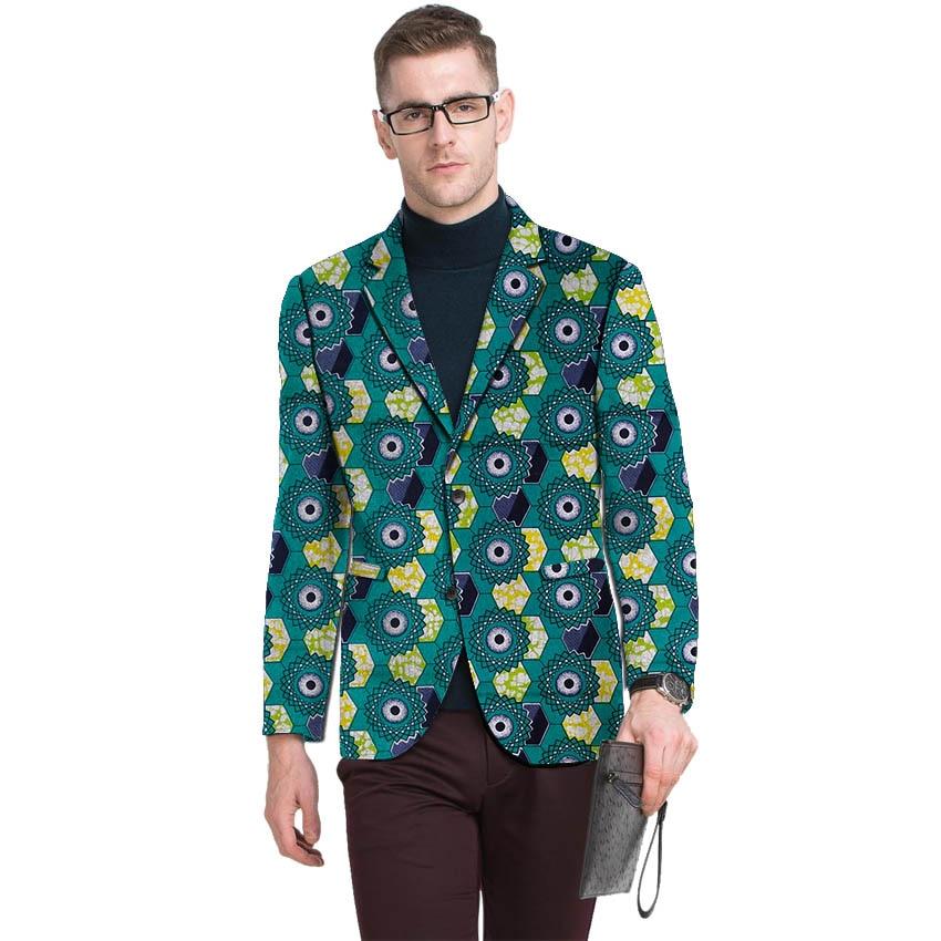 Мужской блейзер с принтом Дашики, костюм с пиджаком по индивидуальному заказу для Африканской вечеринки/свадьбы, Анкара, повседневное паль...