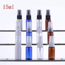 15ML x 50 vide petit vaporisateur de brouillard bouteille en plastique 15cc parfum rechargeable récipient cosmétique avec pulvérisateur pompe Mini voyage taille
