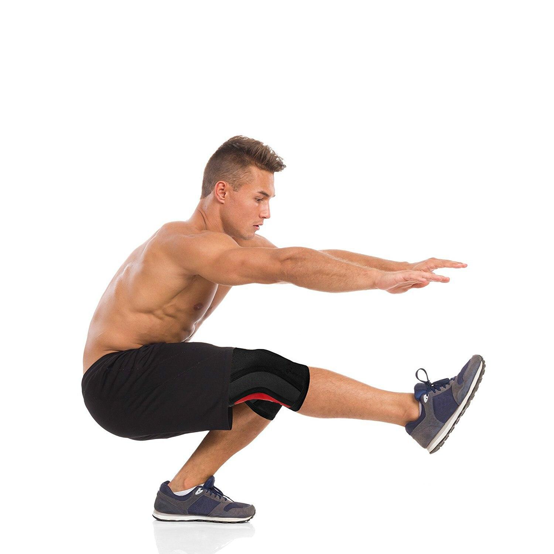Компрессионная опора на колено и облегчение боли в суставах-неопреновые рукава для фитнеса, тяжелая атлетика, спорт и Приседания