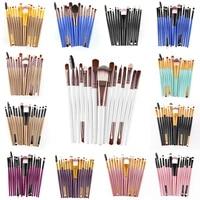 15pcs pro makeup brushes set eyelash lip foundation powder eye shadow brow eyeliner brush cosmetic make up brush beauty tool kit