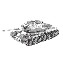 Металлическая 3D головоломка Nanyuan JS-2, танк, военный оружие, модель, сделай сам, лазерная резка, сборка, пазлы, настольные украшения, подарок для проверки