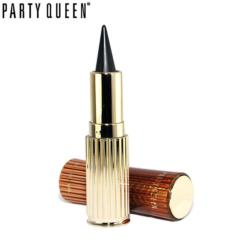 Партия Королева золотой твердый толстый черный Водостойкий карандаш для глаз Копченый Макияж Ультра стойкий кошачий глаз гелевая подводка для глаз kajal Stick