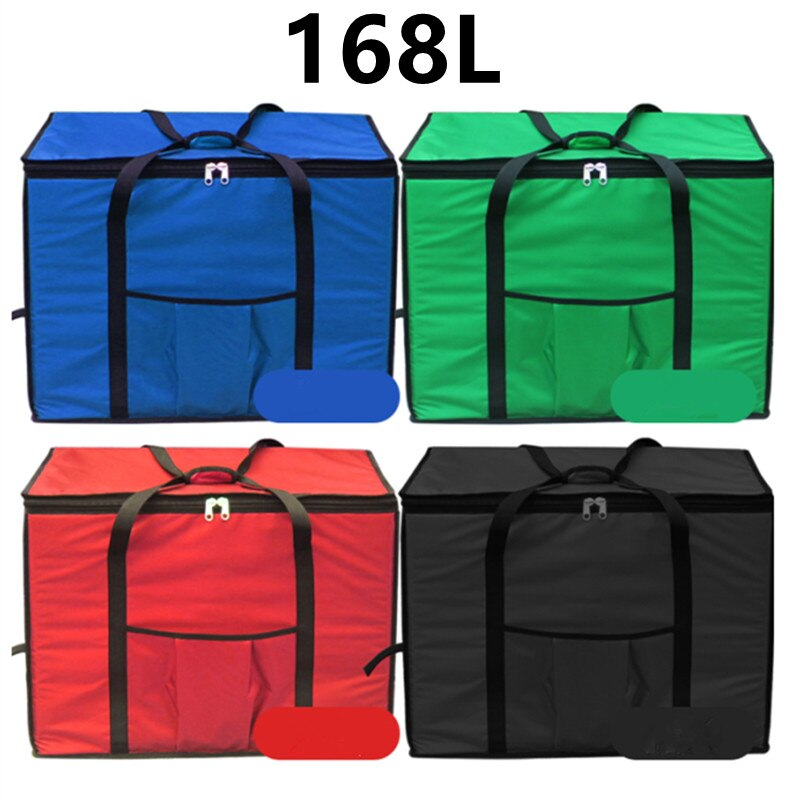 Bolsa de almuerzo 168L, bolsas para llevar, incubador de refrigerador de coche, caja de comida rápida, 1680D Oxford, Maleta de viaje de tela, bolso de hielo impermeable