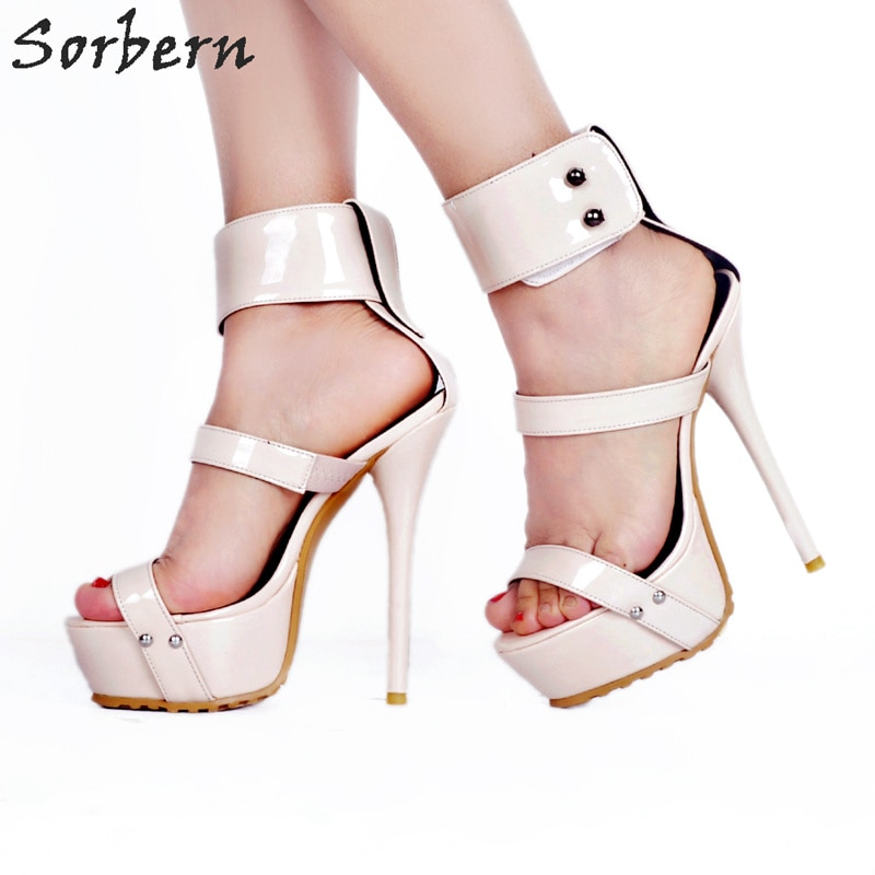 Sandalias Sorbern de piel sintética de estilo gladiador para mujer, Sandalias de tacón alto, zapatos con punta para mujer, zapatos de vestir para mujer, sandalias 2018