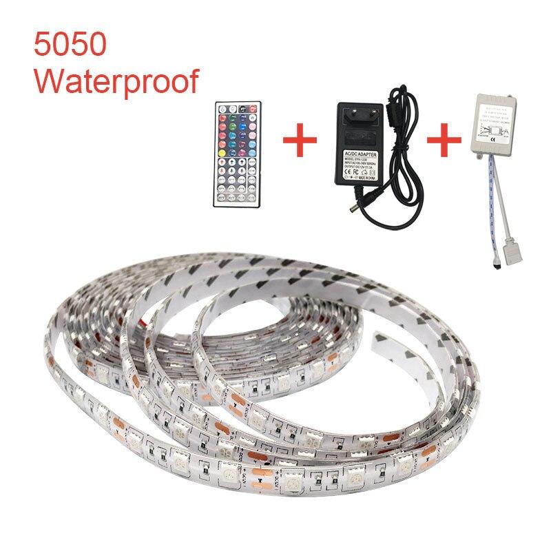5050 SMD LED tira de luz 12V DC PC computadora caso adhesivo Flexible tira de luz impermeable 500cm cinta de fondo de la lámpara