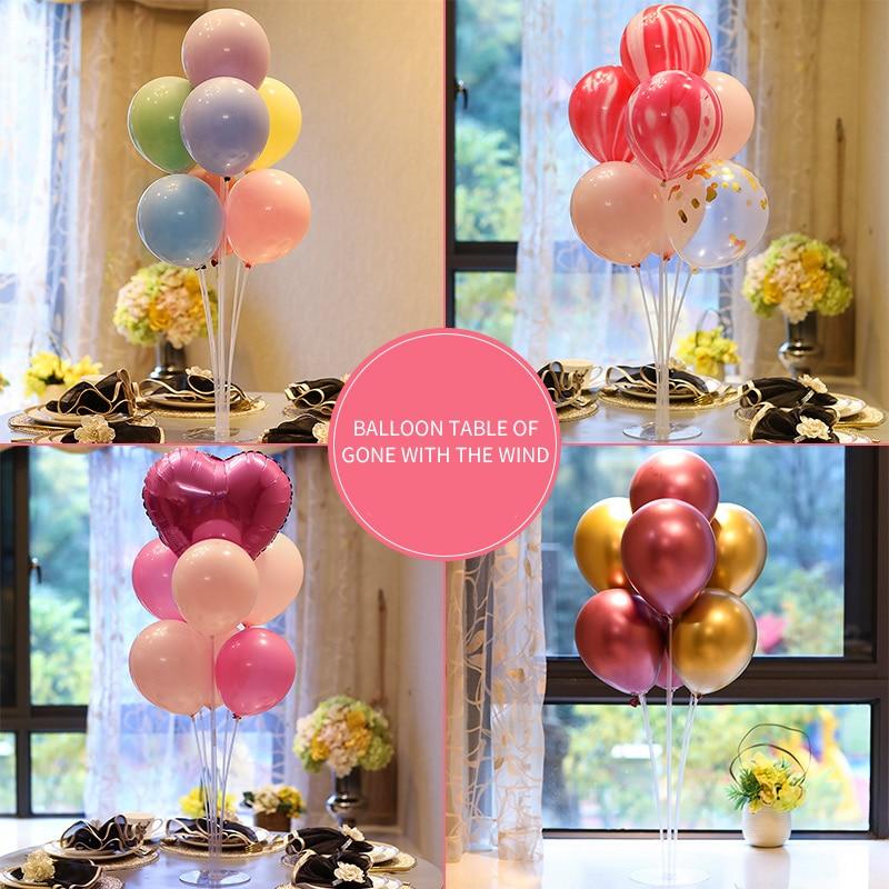 Воздушные шары Macaron, металлические воздушные шары с настольной подставкой, свадебные украшения, товары для дня рождения, праздничные настол...