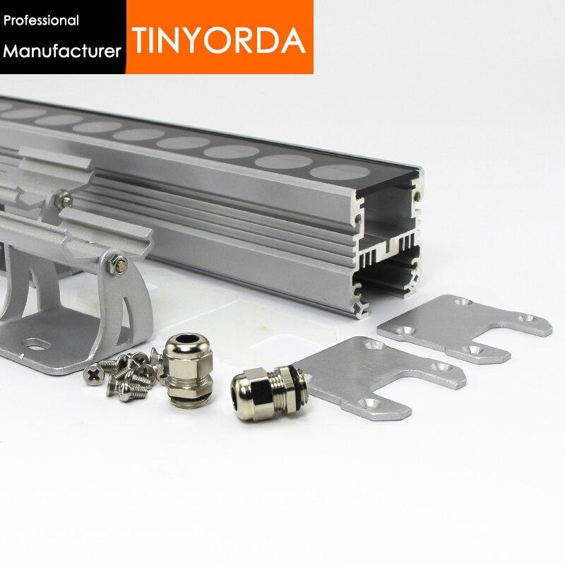 Tinyorda TWH4549 10 piezas (1M de longitud) lámpara de pared de lavado LED 36W48W accesorio de luz de inundación para PCB de 35mm [fabricante profesional]