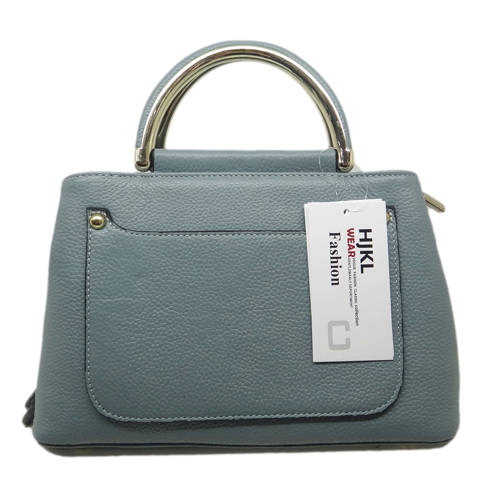 Women High Quality PU leather Zipper Light Blue colour Handbag famous popular brand design Free Shipping