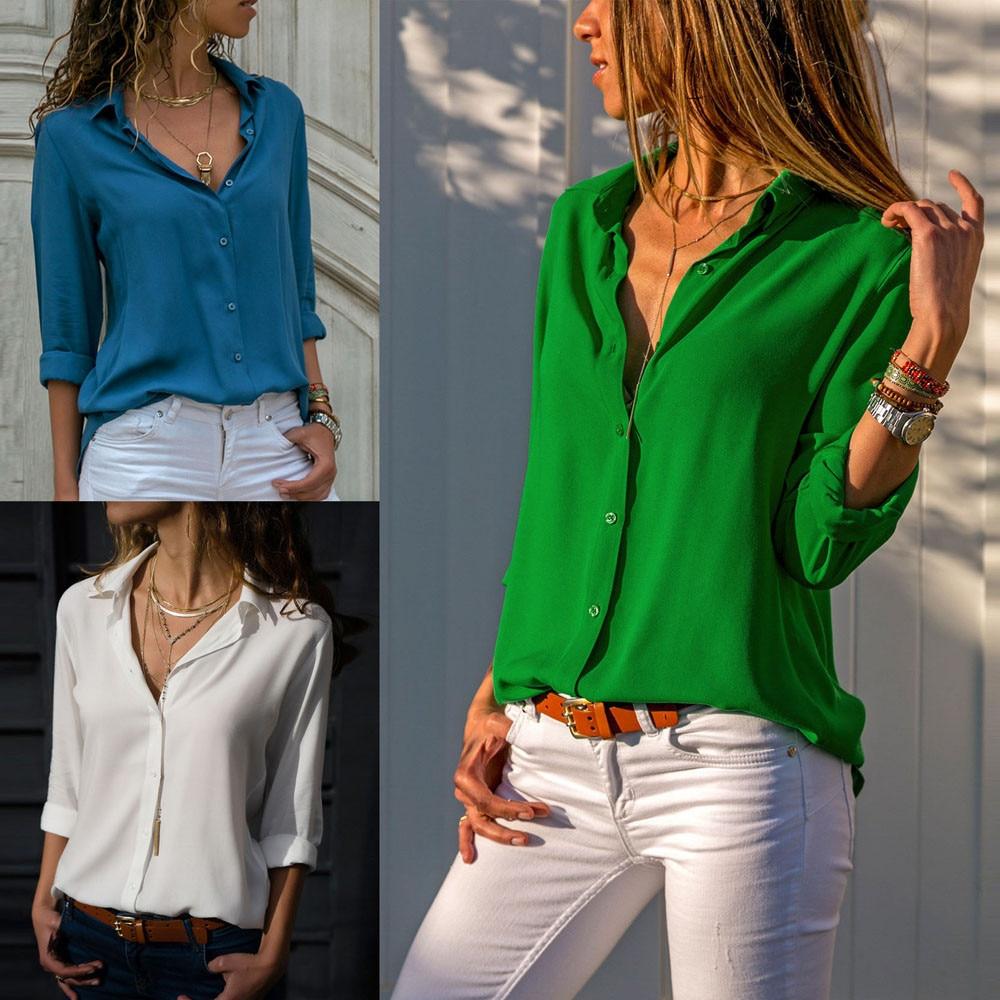 2020 f1 camisa de manga longa de chiffon das senhoras da moda das mulheres do laço do vintage