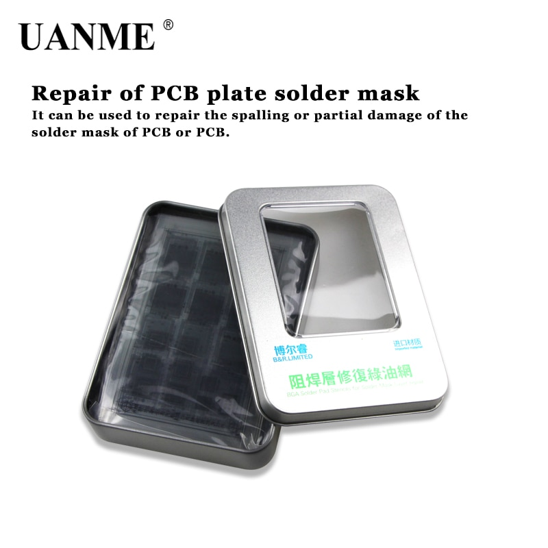 UANME 8 Uds efix IP plantilla BGA Máscara de Soldadura Kit de tinta red de aceite verde para iPhone6 6S 6P 7P iPad NAND potencia de flash WiFi táctil IC