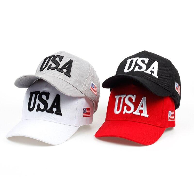 ¡Novedad de 2018! gorra de béisbol para hombre y mujer, gorra con Cierre trasero para Estados Unidos, Gorras de Hip Hop, Gorras, venta al por mayor