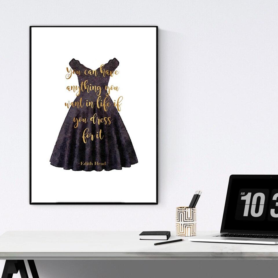 Pósteres e impresiones de moda de arte minimalista, pestañas blancas y negras, cita inspiradora, pintura en lienzo, cuadro de pared, estilo nórdico de decoración de salón