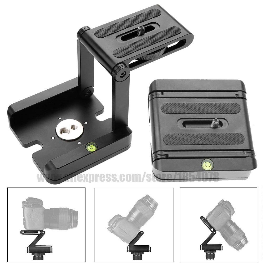 Novo alumínio portátil dobrável câmera cabeça do tripé slider z desktop suporte flex pan tilt bola cabeça para canon nikon sony dslr
