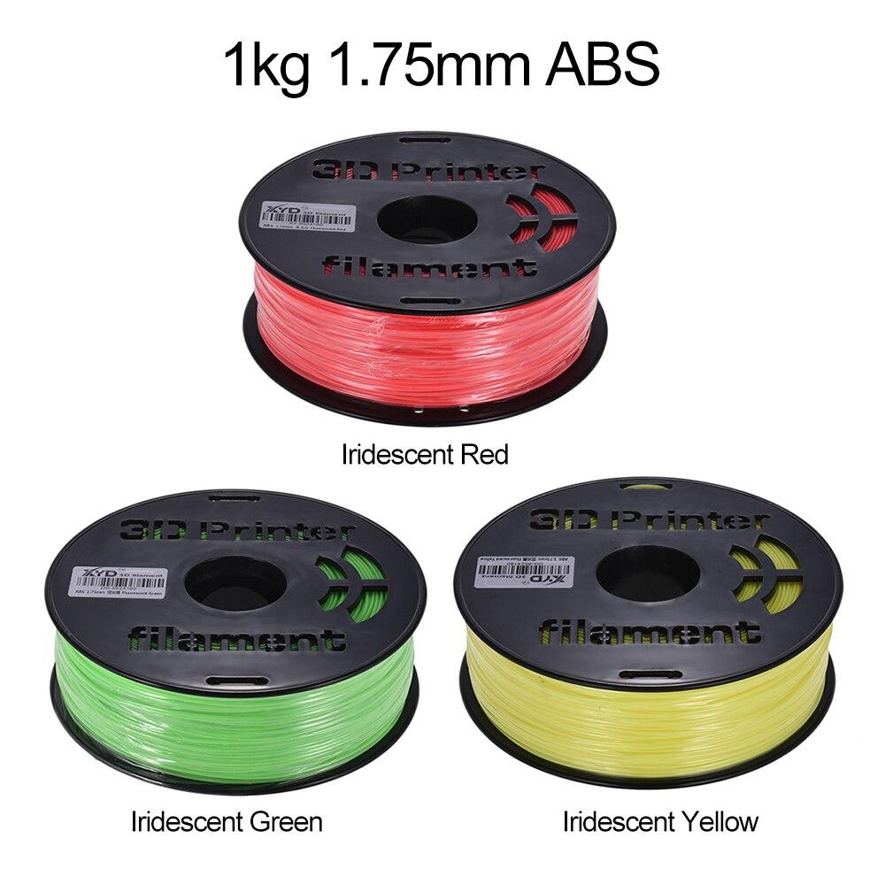 خيوط ABS ملونة للطابعات ثلاثية الأبعاد ، قطر 1.75 مللي متر ، 1 كجم/بكرة ، للرسم