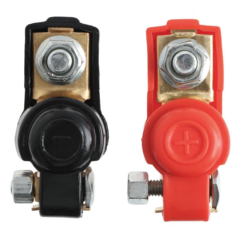 1 par de clips de abrazadera de Terminal de coche de batería Positivo Negativo de aleación conector nuevo