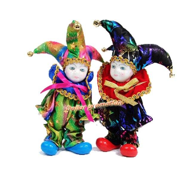 Envío Gratis muñeca de porcelana romántica modelo triangular italiano muñeca payaso San Valentín