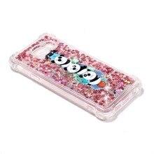 For Samsung galaxy A3 A5 A7 2016 2017 J1 J3 J5 J7 2016 Animal Pattern TPU Cover Dynamic Sand Quicksand Clear Phone Case Coque