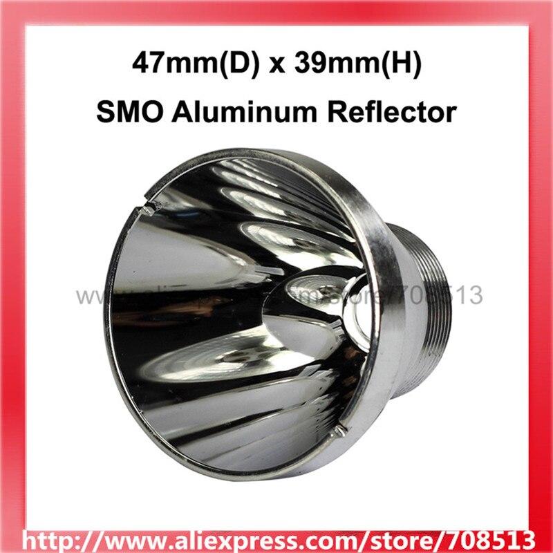 47mm(D) x 39mm(H) Reflector de aluminio SMO para CREE XM-L