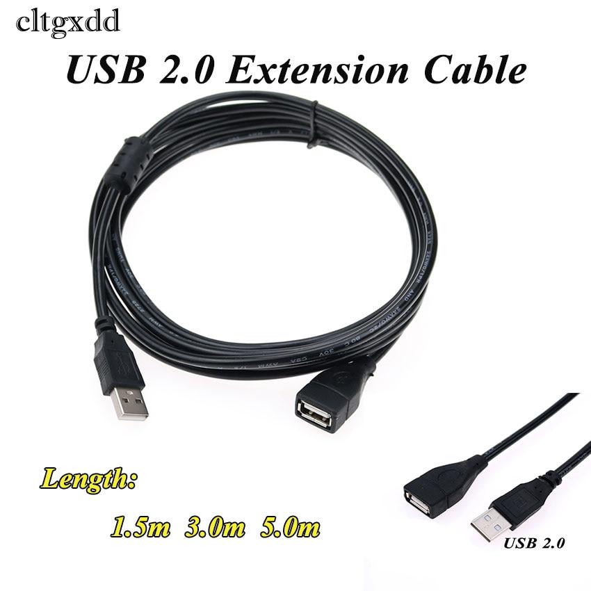 Cltgxdd/1,5/3/5m USB macho hembra Cable Super velocidad USB 2,0 M/F Cable macho...