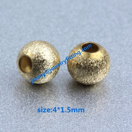 size 4*1.5mm Jewelry findings metal beads brass stain beads brush  copper beads