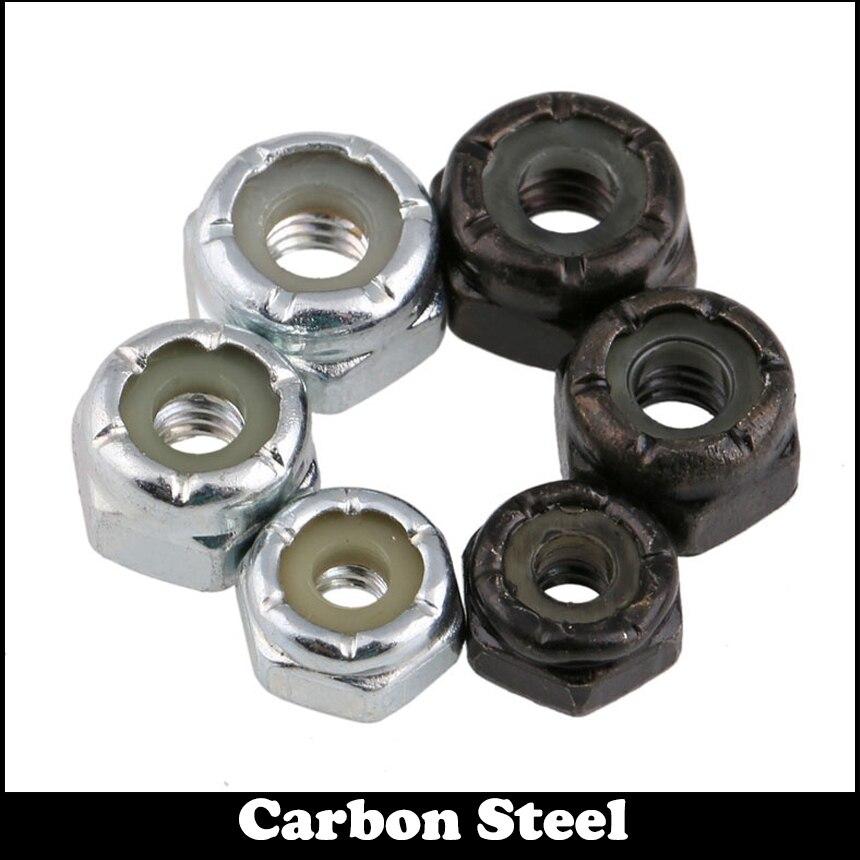 """1/4 """"1/4 pulgadas 1/4-20 acero al carbono blanco Zine Plating BSW estándar británico pesado prevaring Torque tipo cerradura hexagonal Nylon Nut"""