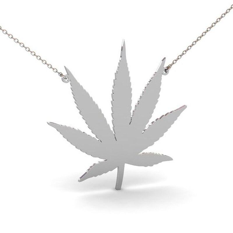 Collar de hoja de marihuana Ufine, regalo para niña, colgante de hoja de Cannabis, COLLAR COLGANTE de cobre de alta calidad N2186