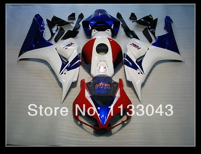 100% fit inyección rojo blanco azul carenados para Honda CBR1000 06 07 CBR1000 RR 2006 2007 CBR 1000RR 06 07 kits de carenado #6fg887