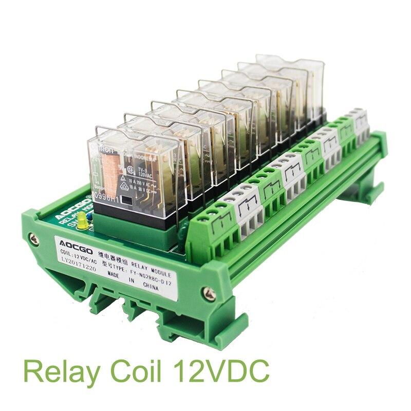8 канальное 1 SPDT DIN рейка OMRON G2R 12 В DC/AC интерфейсный релейный модуль|omron g2r|8 channelinterface