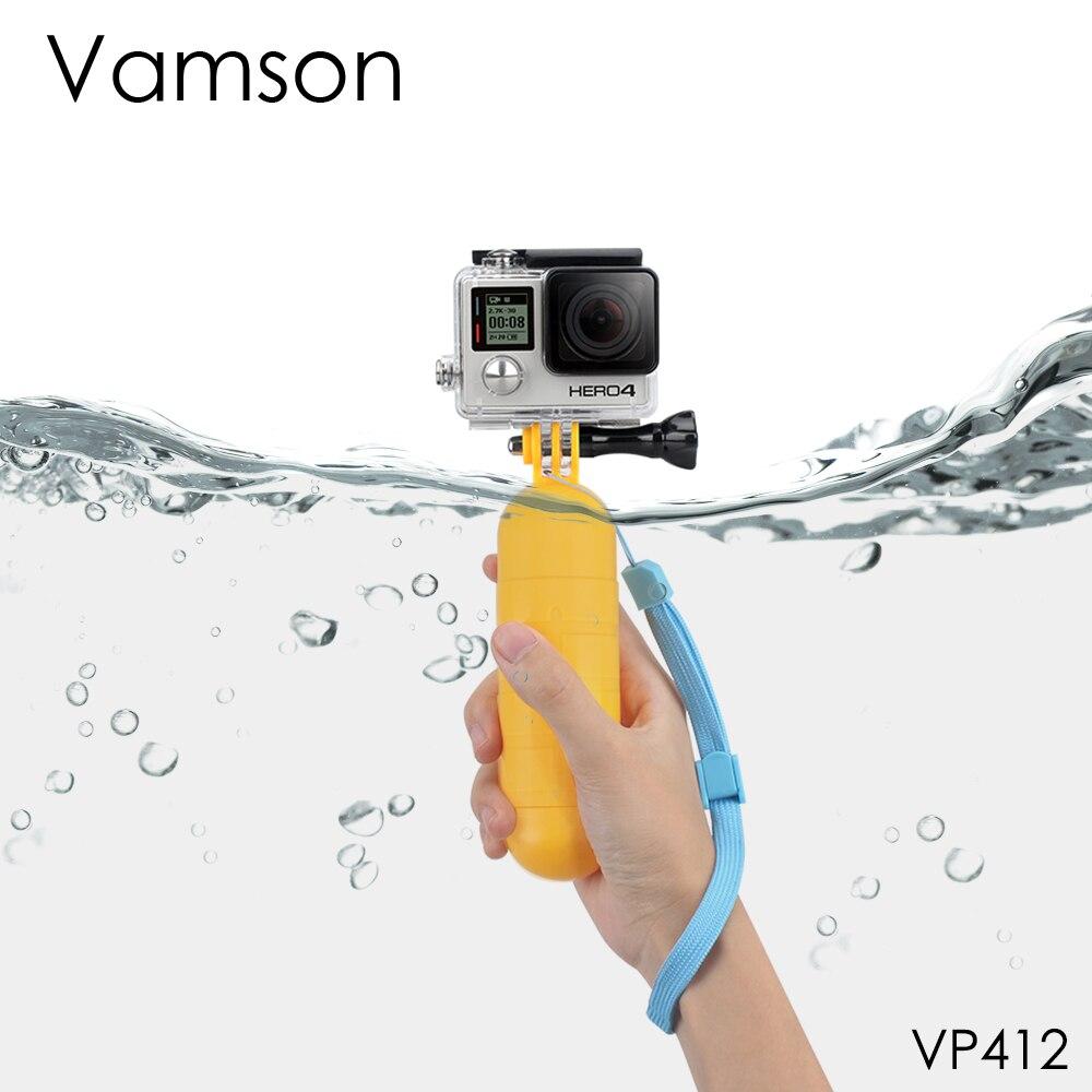 Аксессуары Vamson для Go Pro, желтая плавающая ручка, монопод, ручка, штатив для gopro hero 7 6 5 4 3 + для Xiaomi Yi VP412