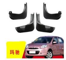 4 piezas especial para Nissan marzo AUTO guardabarros