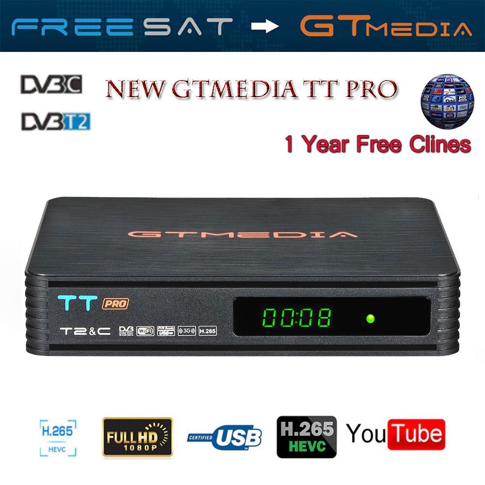 GTMEDIA TT PRO DVB-T2/T Terrestria Receptor HD sintonizador de TV Digital Receptor MPEG4 DVB T2 H.264 terrestre Receptor de TV DVB-C TV BOX