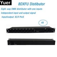 Лидер продаж 8 способ DMX Дистрибьютор DMX512 усилитель сигнала сценический свет DMX512 усилитель распределитель сигналов DMX для сценического обор...