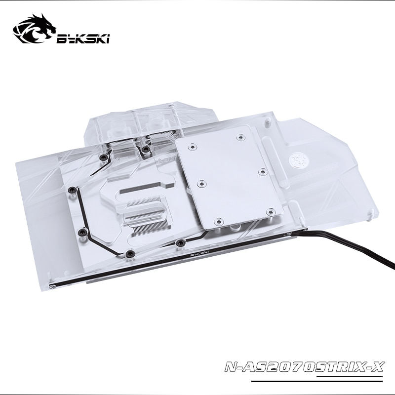 Bykski المياه كتلة استخدام ل ASUS ROG STRIX-RTX2070-O8G / STRIX-RTX2060-O6G الألعاب/غطاء كامل النحاس المبرد كتلة/RGB ضوء