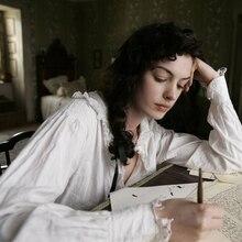 Anne Hathaway Austin Vintage Katoen Nachtjapon Wit Pijamas Vrouwen Nacht Shirt Vrouwelijke Gewaad Nachtkleding Night Dress Plus Size AW297
