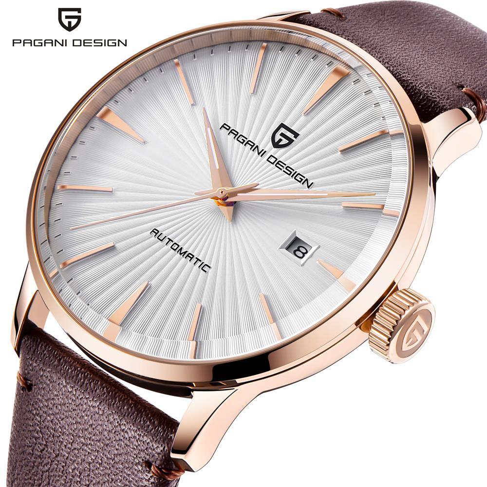 PAGANI DESIGN Luxury Brand New Fashion Mens Watches Waterproof Leather Strap Casual Automatic Mechanical Watch Relogio Masculino