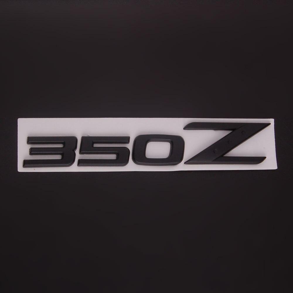 Carro preto auto 350z emblema da liga de alumínio adesivos para 350z fairlady z z33