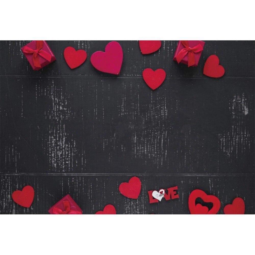 Laeacco Grunge pizarra amor corazón rojo regalo fiesta ceremonia escena fotografía telón de fondo fotográfico telón de fondo para estudio fotográfico