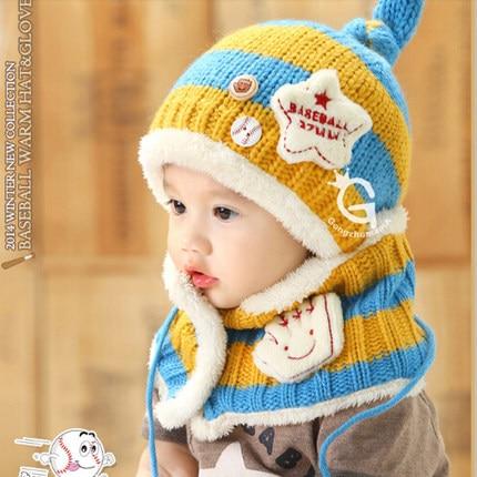 2 uds gorro bufanda para niños, gorro tejido de felpa, gorro tejido para bebés, gorro de mono, tapón de protección auditiva para niños y mujeres