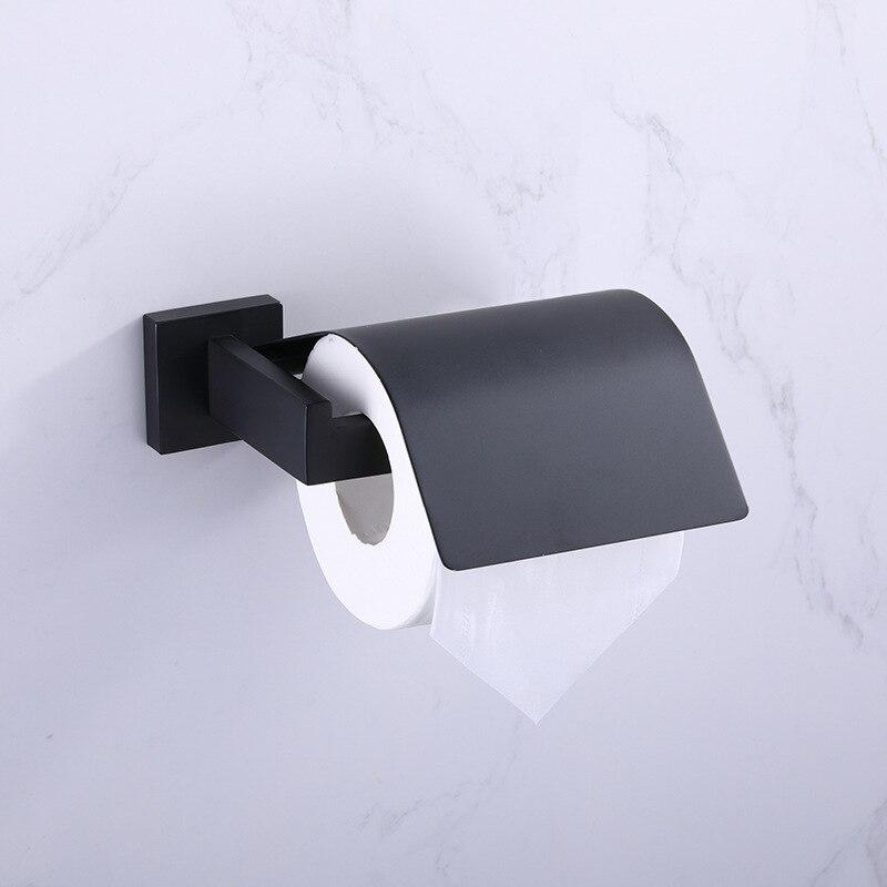 حامل ورق التواليت من الفولاذ المقاوم للصدأ 304 ، أسود ، إكسسوارات الحمام ، شحن مجاني