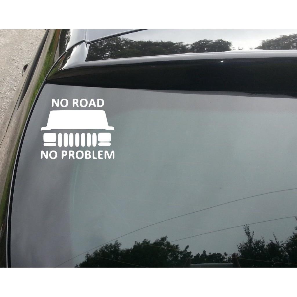 No hay camino No hay problema creativo advertencia 350 camión Offroad 4x4 4WD JDM EURO pegatinas de vinilo para ventana etiqueta engomada de 15cm