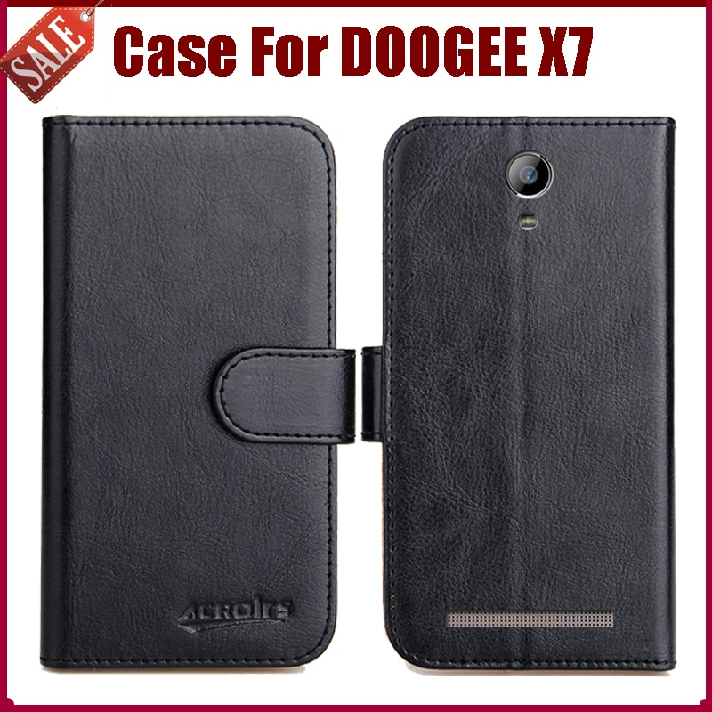 Hot! DOOGEE X7 Case New Arrival 6 Colors High Quality Flip Leather Protective Cover For DOOGEE X7 Phone Case