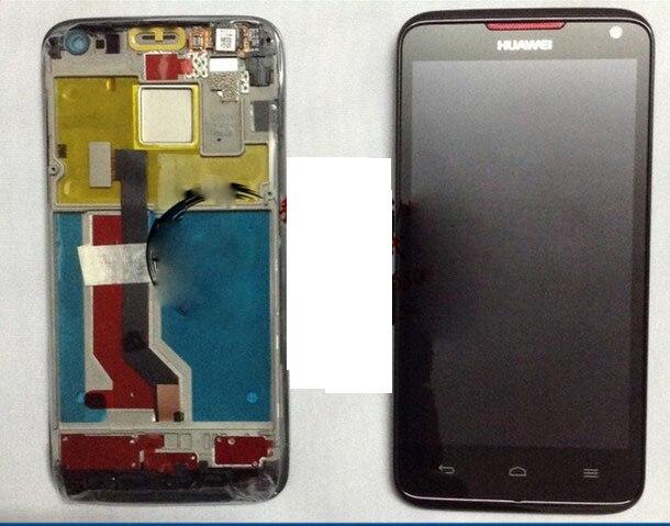 ЖК-экран с сенсорным экраном и рамкой, для Huawei Ascend D D1 Quad XL U9510 U9510E U9500, полный комплект, черный, оригинальный