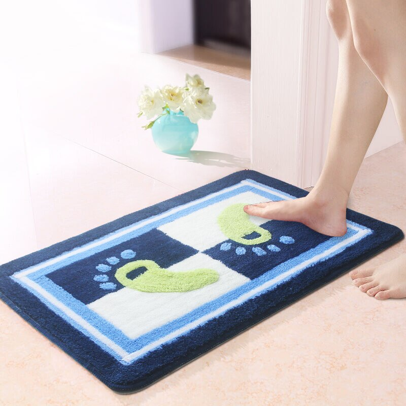 1Pcs Feet Pattern Bath Mat Carpet Bathroom ,50x80cm Anti Slip Bathroom Rug In The Toilet ,Mats for Bathroom And Toilet alfombras